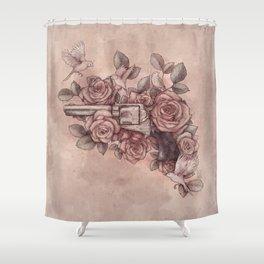 Guns & Flowers Shower Curtain