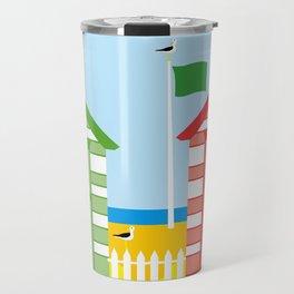 BEACH HUT Travel Mug