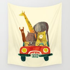 Visit the zoo Wall Tapestry