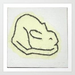 Rabbit Moon Art Print
