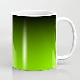 Black and Chartreuse Ombre Coffee Mug