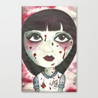 nurse Canvas Prints featuring Nurse by Kitty Judge