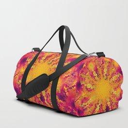 Summer Heat gold green sun Duffle Bag