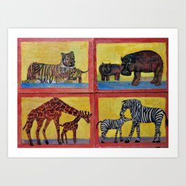 Animal Crackers Free at Last 2 Art Print