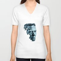clint eastwood V-neck T-shirts featuring Clint Eastwood by artbyolev
