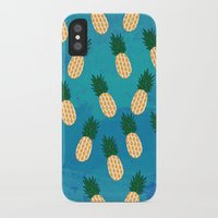 pineapples iPhone & iPod Cases featuring Pineapples  by Ashley Hillman
