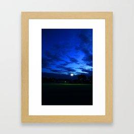 Blue+Green Framed Art Print