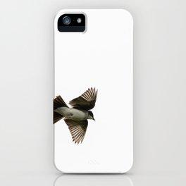 Eastern Kingbird in Flight iPhone Case