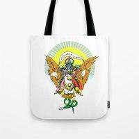 hindu Tote Bags featuring Hindu Universe by MARICAMA