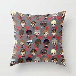 Zombie Killing Cuties Throw Pillow