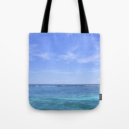 Whispy Clouds and Whitecaps - Tropical Horizons Series Tote Bag