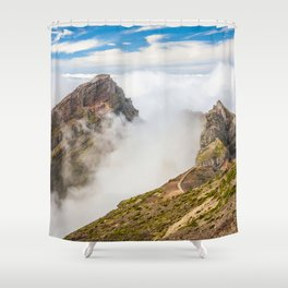 Mountains on Madeira Shower Curtain