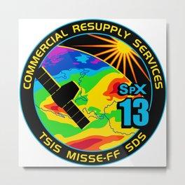 NASA's SpX-13 Mission Patch Metal Print