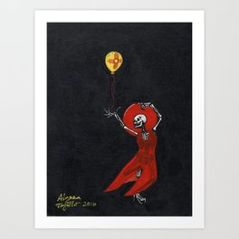 Dancing Skeleton Art Print