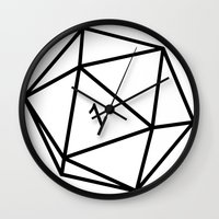 dungeons and dragons Wall Clocks featuring Fumble - Dungeons & Dragons for Dummies by oneeye01
