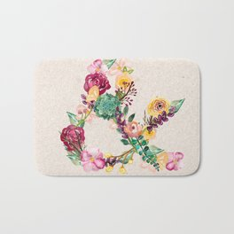 Floral Ampersand Bath Mat