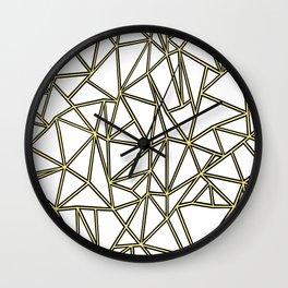 Ab Blocks White Gold Wall Clock