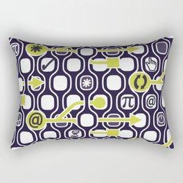 geek spirit (Acid green) Rectangular Pillow