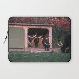 Bull eating Laptop Sleeve