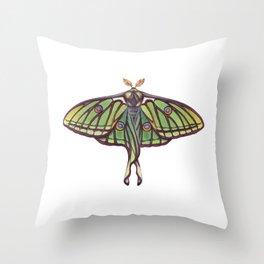 Spanish Moon Moth (Graellsia isabellae) Throw Pillow