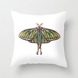 Spanish Moon Moth (Graellsia isabellae) Throw Pillow