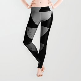 Scandinavian Art Midcentury Bowls Black Leggings