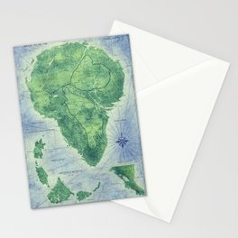 Jurassic Park - Map - Colour Stationery Cards