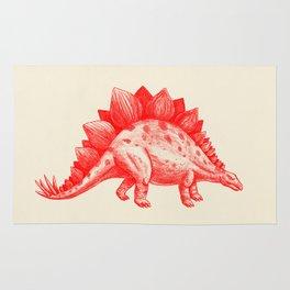 Red Stegosaurus  Rug