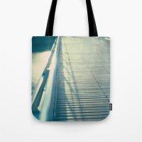 bridge Tote Bags featuring Bridge by Caroline Mint