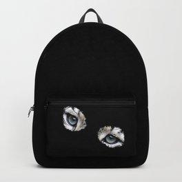 Snow leopard eyes, big cat fan, leopard lover Backpack
