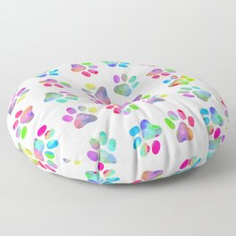 Puppy Paw Print Floor Pillow