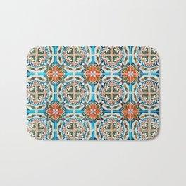 Seamless Floral Pattern Ornamental Tile Design : 1 Bath Mat