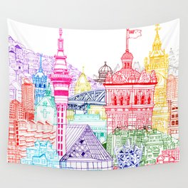 New Zealand Towers  Wall Tapestry