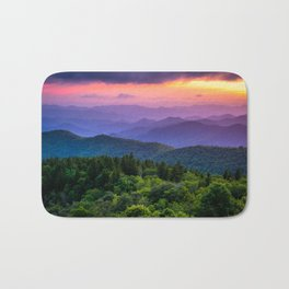 Sundown from Cowee Mountains Landscape Bath Mat