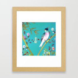 chinois 1731: turquoise  Framed Art Print