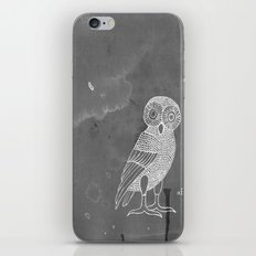 ATHENA'S OWL IN GREY BACKGROUND  iPhone & iPod Skin