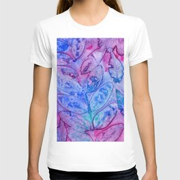 Watercolor abstract leaves T-shirt