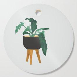 mid century modern house plant boho pot stand Cutting Board