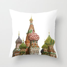 St. Basil's Cathedral - Moscow, Russia  Throw Pillow