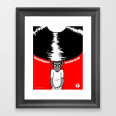 Blackwax Boulevard Poster Framed Art Print