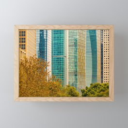 Pudong Financial District, Shanghai, China Framed Mini Art Print