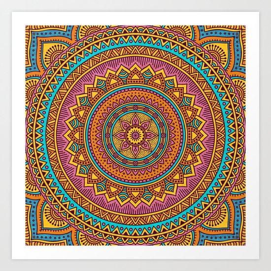 Hippie mandala 63 Art Print