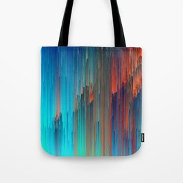 All About Us - Abstract Glitch Pixel Art Tote Bag