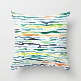 Ocean Zebra Chevron Throw Pillow