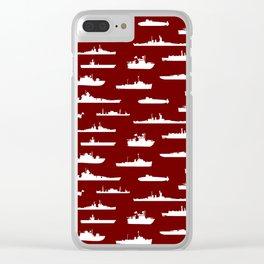 Battleship // Maroon Clear iPhone Case