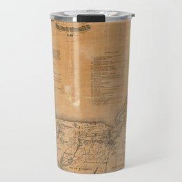 Vintage Map of Nantucket (1869)  Travel Mug