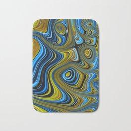 BEACHES - golden sands and brilliant blue shores abstract design Bath Mat