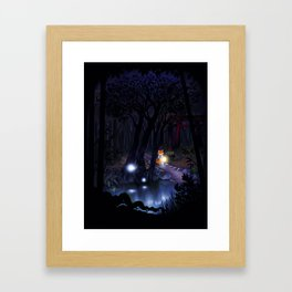 Mythical forest Framed Art Print