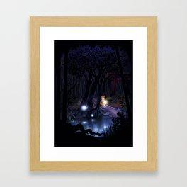 Mythical forest Framed Art Print