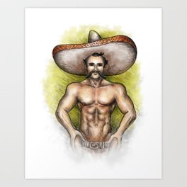 Sexy Mexican Revolutionary Art Print